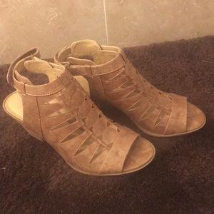 Talan Cutout Stacked Heel Sandal